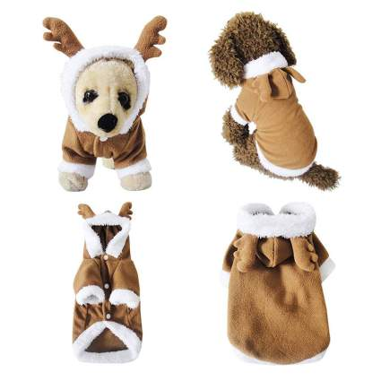 Mogoko Dog/Cat Christmas Reindeer Costume
