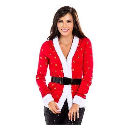 mrs. claus christmas cardigan