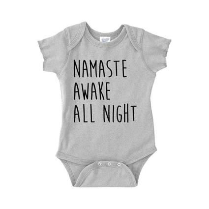 Namaste Awake All Night Baby One Piece