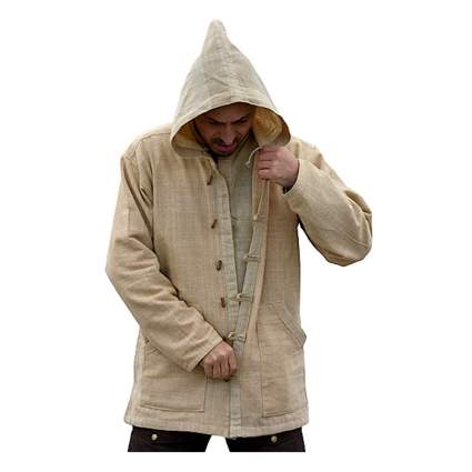 natural hemp hoodie jacket