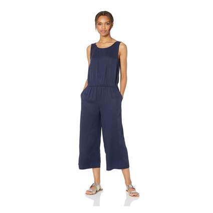 navy tencel jumpsuit