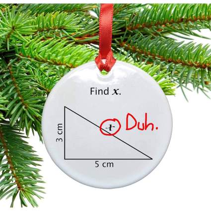 Geometry ornament with triangle