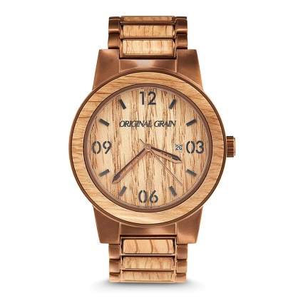 wood watch for men