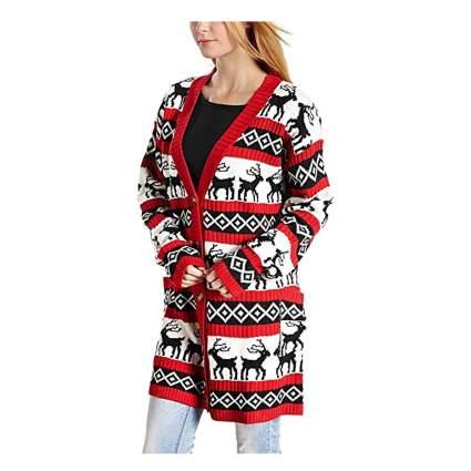 oversized reindeer cardigan