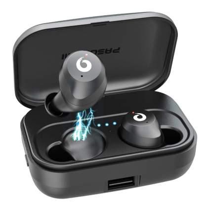 PASONOMI Waterproof Wireless Stereo Earbuds w/Built-In Mic