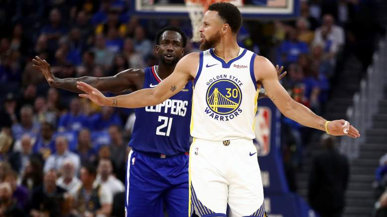 Patrick Beverley, Clippers and Stephen Curry, Warriors