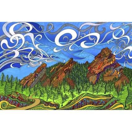 Boulder Flatirons by Phil Lewis