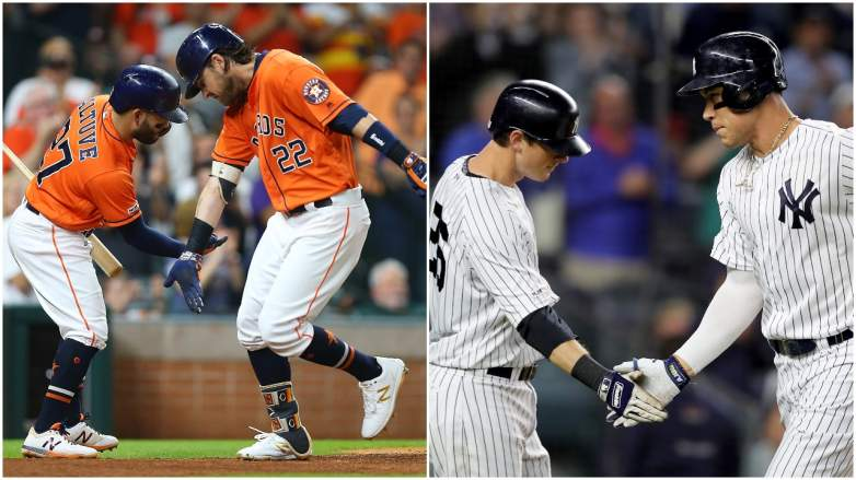The top two teams in the AL, the Astros and Yankees, open up their ALDS Series on Friday against the Rays and Twins, respectively.