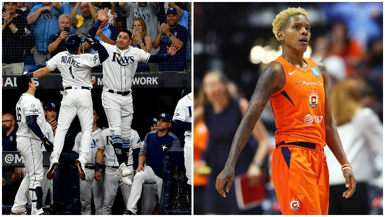 The Rays beat the Astros to force a Game 5 and the Sun outlasted the Mystics in Game 4 of the WNBA Finals.