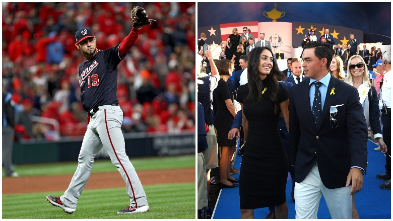 Aníbal Sánchez took a no-hitter into the 8th inning and Rickie Fowler shared photos from his wedding.