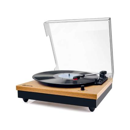 Popsky Vintage Turntable 3-Speed Bluetooth Record Player with Speaker