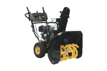 Poulian Pro Two-Stage Gas Electric Start 24-Inch Snow Blower