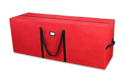 large red storage duffle bag