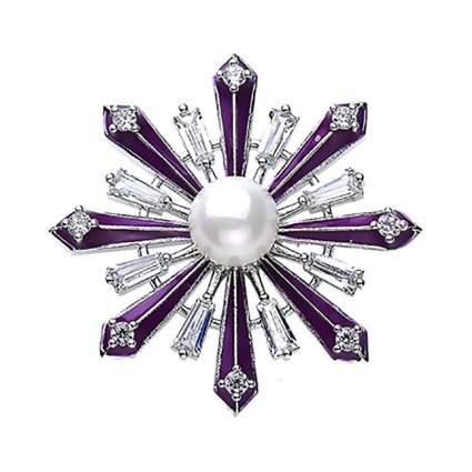 purple snowflake brooch