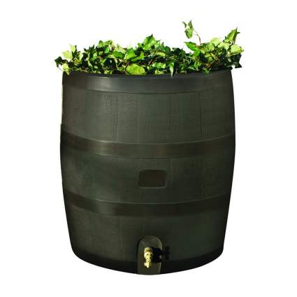 rain barrel with built in planter