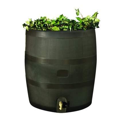 rain barrel with built in planter