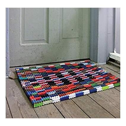 reclaimed flip flop door mat