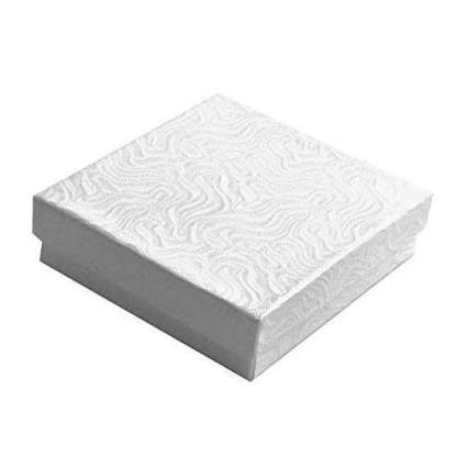 White jewlery box with swirling texture lid