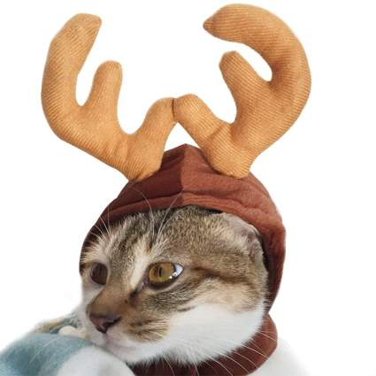 Reindeer Costume Hat for Cats and Small Dogs