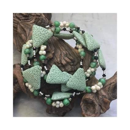 Sage Green Lava Stone Diffuser Necklace