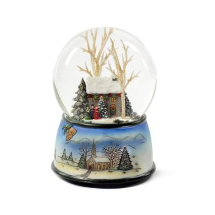 the san francisco music box company winter cottage snow globe