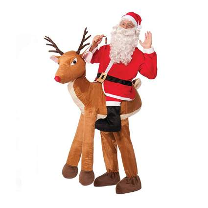 Santa Ride-A-Reindeer Adult Costume