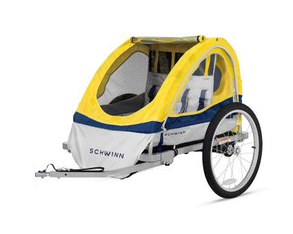Schwinn Echo Double Tow Behind Bicycle Trailer