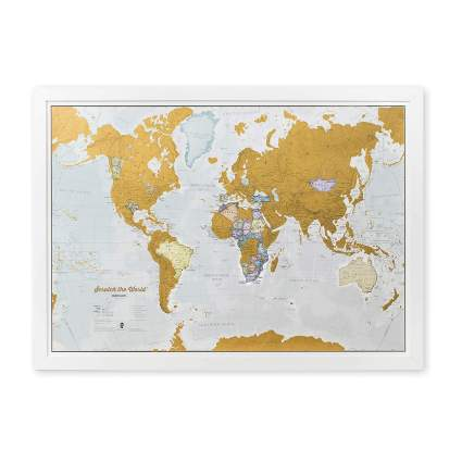 Maps International Scratch Off World Map Poster