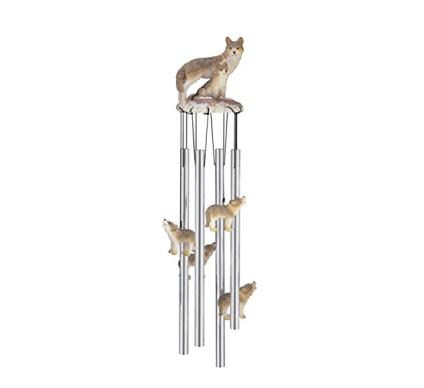 Family Wolves Garden Decoration Wind Chime