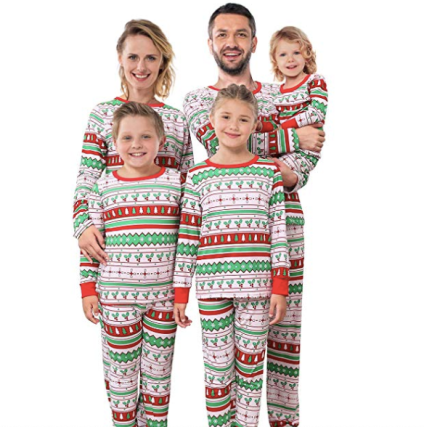 Striped Christmas Matching Family Pajamas