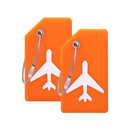 Silicone Luggage Tag With Name ID Card