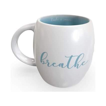 "Sky Blue""Breathe"" Mindfulness Mug"