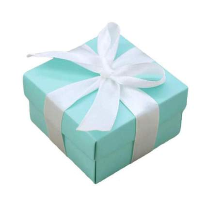 Minty blue gift box with white box