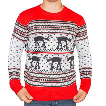 Star Wars AT-AT Reindeer Christmas Sweater