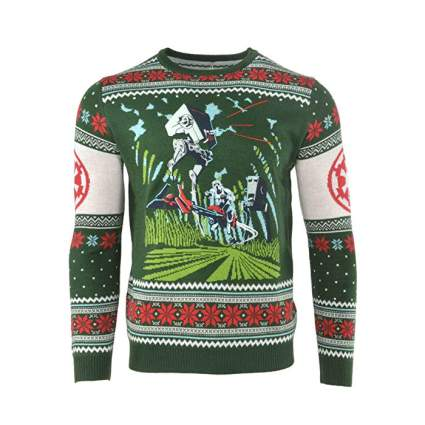 Star Wars AT-ST Battle for Yavin Christmas Sweater