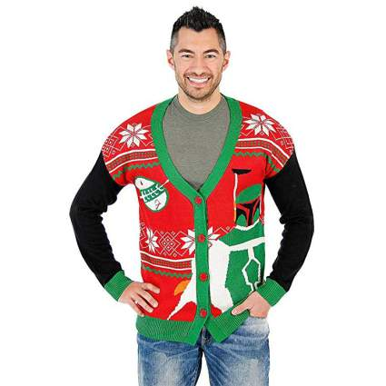 Star Wars Boba Fett Cardigan Christmas Sweater