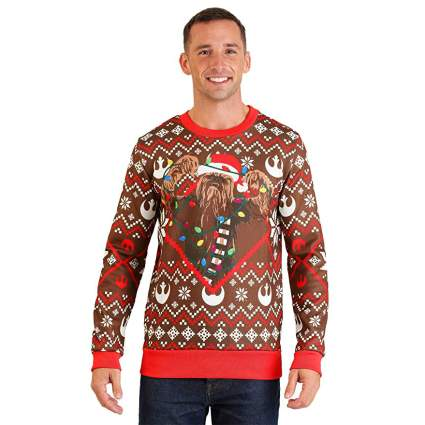 Star Wars Chewbacca Lights Christmas Sweater