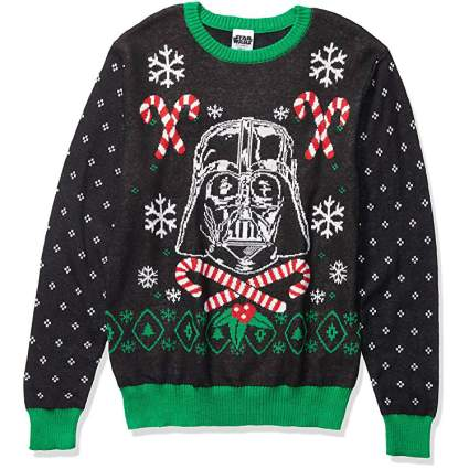 Star Wars Darth Vader and Candy Canes Christmas Sweater