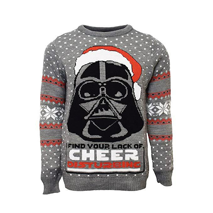 Santa Darth Vader Sweatshirt I Find Your Lack of Cheers Disturbing Xmas Men Top