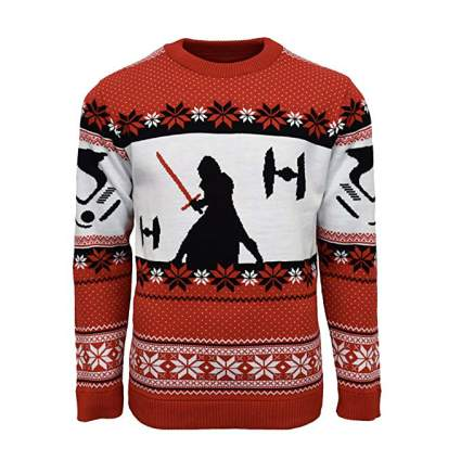 Star Wars Kylo Ren TIE Fighter Christmas Sweater