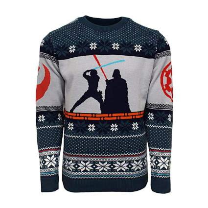 Star Wars Luke vs. Darth Vader Christmas Sweater