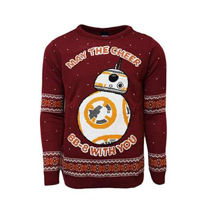 Star Wars May the Cheer BB-8 With You Christmas Sweater