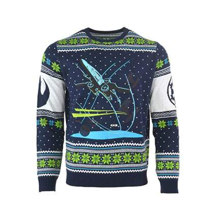 Star Wars X-Wing Battle of Yavin Christmas Sweater