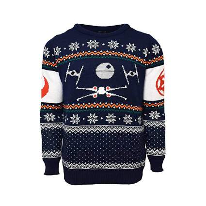 Star Wars X-Wing vs. TIE Fighter Christmas Sweater