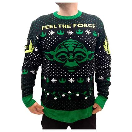 Star Wars Yoda Feel the Force Christmas Sweater