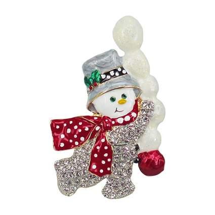 swarovski crystal snowman brooch