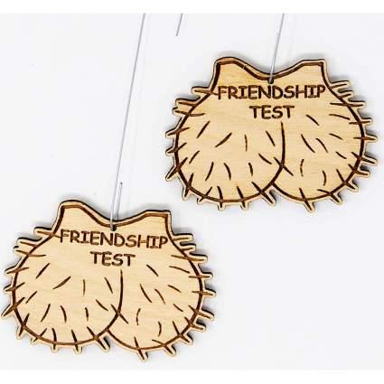 Friendship test wooden ornaments