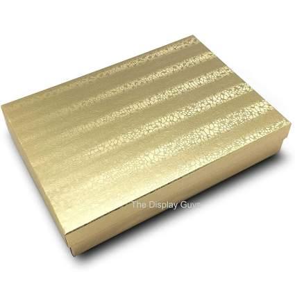 Metallic gold gift box