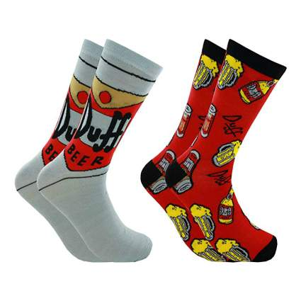 The Simpsons Duff Beer Men's Crew Socks