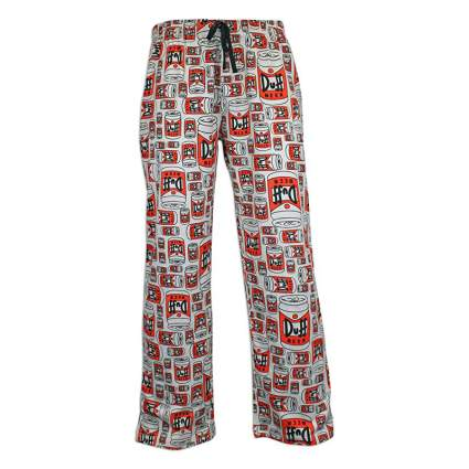 The Simpsons Men's Duff Beer Lounge Pants